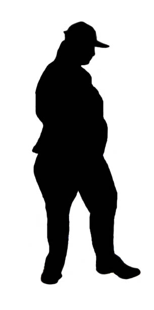 obese woman silhouette