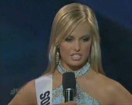 It's the Miss Teen USA 2007 pageant when Miss South Carolina Gained ...