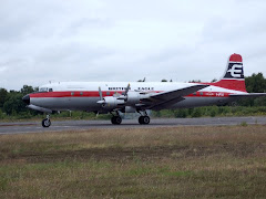 Air Atlantique DC6 at Blackbushe