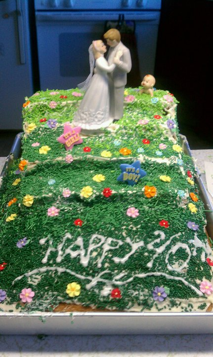 Missy Salsa 40th Over the Hill Birthday Cake