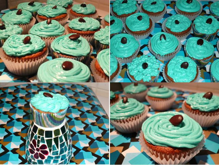 Gluten Free by Babs: Coffee Cupcakes with Turquoise Frosting (Gluten ...