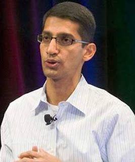 Sundar Pichai new ceo of Google's Alpabet and heads chrome OS