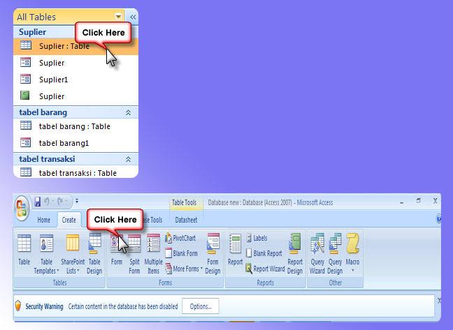 """cara membuat form di ms access ~ KKPI ~""""Anggoro""""~"""