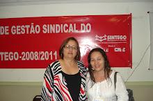 Ex deputada Neide que falou sobre gestão sindical.