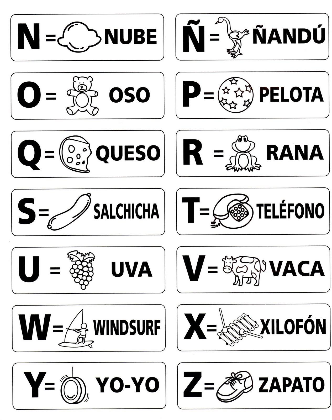 SECRETOS: Letras del abecedario con dibujos