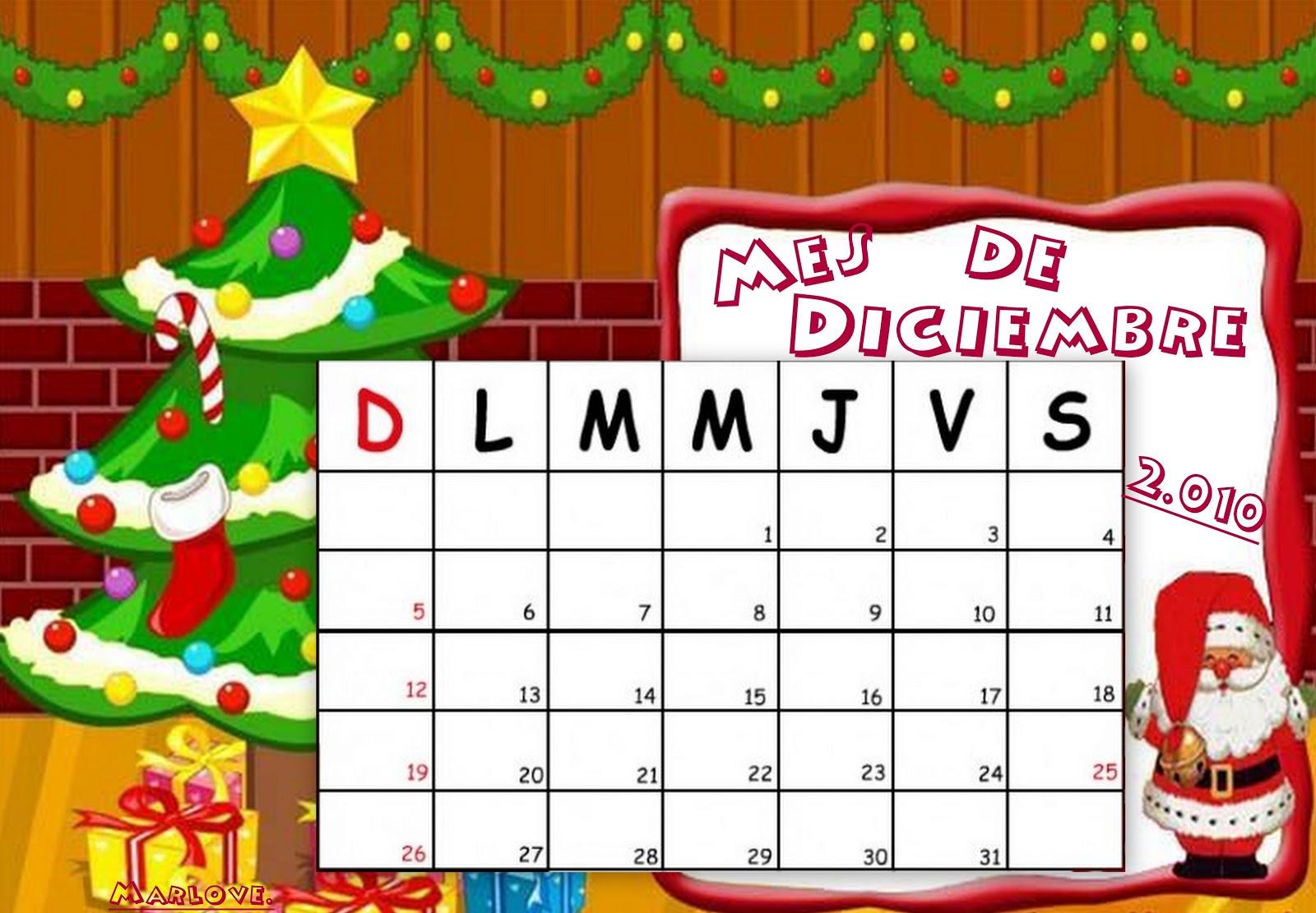 Lleg diciembre calendarios navide os - Calendarios navidenos personalizados ...