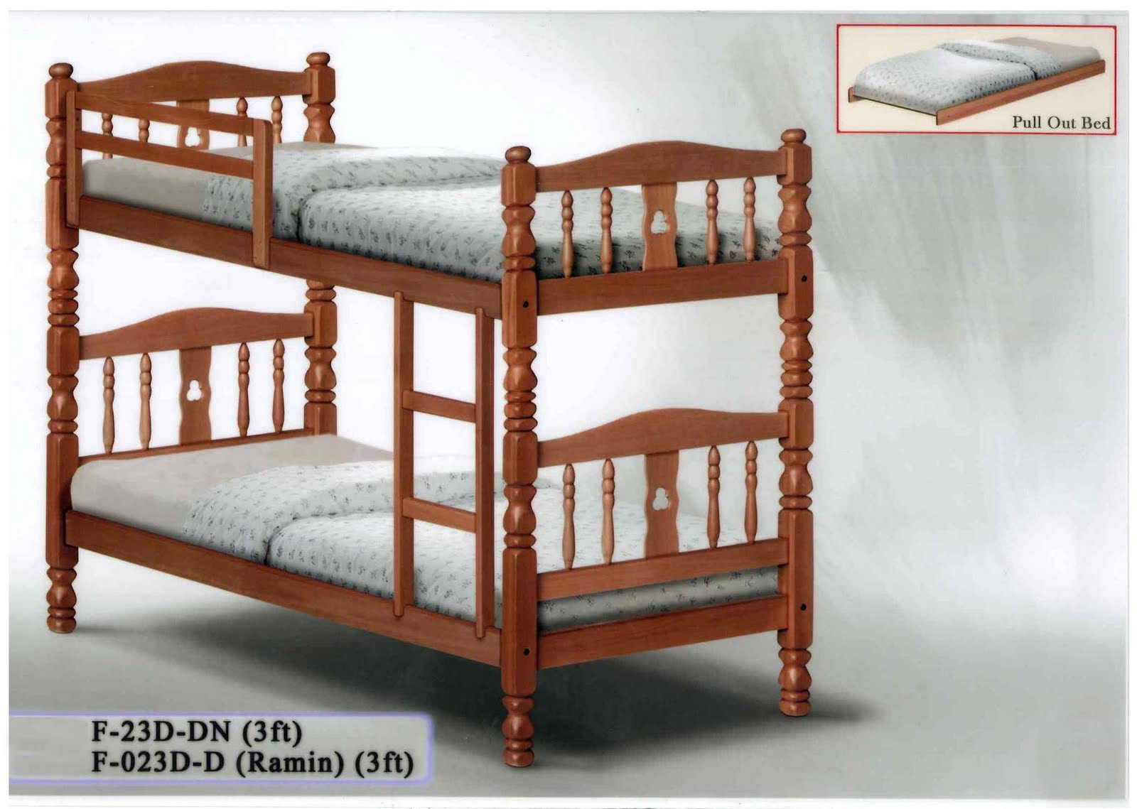Double Deck Wooden Bed : KAIMAY TRADING PTE LTD (Projects & Wholesaler): Bedframe (Wood)
