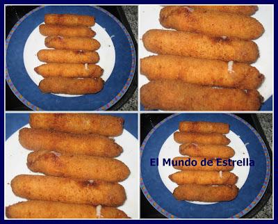 Rollitos de lomo ( fritos en aceite y fritos en actifry)