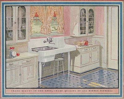 Filed for later sundays of yore 1926 crane kitchen for 1925 kitchen designs