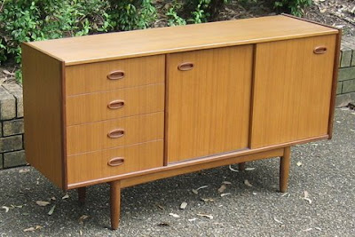 Retro collectables vintage teak veneer sideboard by for Sideboard 3m lang