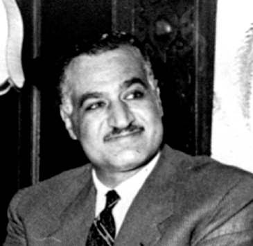 In 1956, Gamal Abdel Nasser was elected president of Egypt.