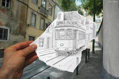 Tranvia-Dibujo-y-Fotografia