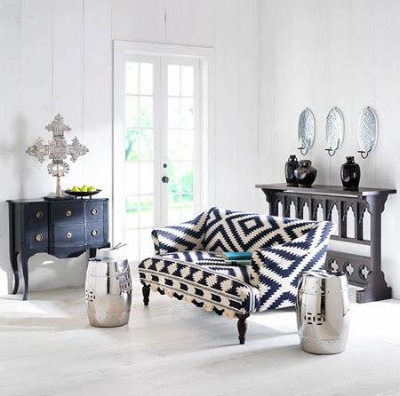 Black Velvet Chair Ceramic Drum Stool