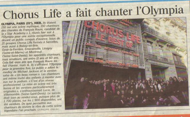 Le Parisien 08.01.2008