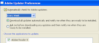Disable Automatic Adobe Updates
