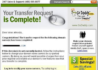 panduan transfer domain ke godaddy