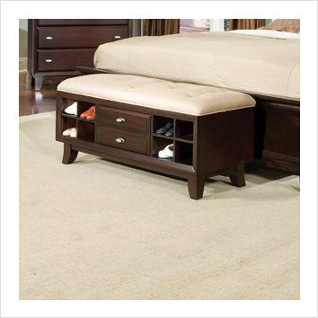 Najarian Furniture Soho Bedside Bench in Espresso Najarian Furniture