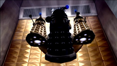 The Daleks emerge from the Sphere in 'Army of Ghosts'