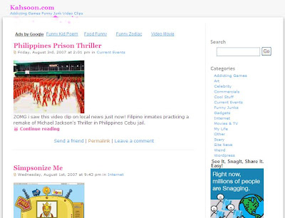 www.kahsoon.com kah soon addicting games art celebrity commercials cool stuff current events funny junks gadgets internet movies TV his life scary stuff site news weird stuff and wordpress.
