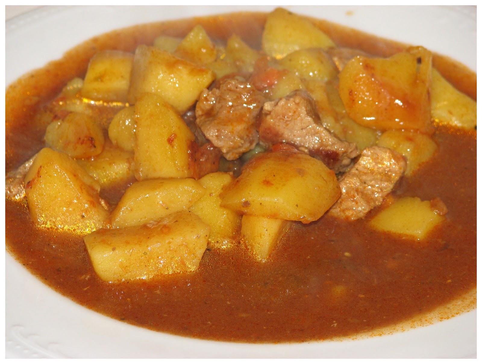 Рагу с картошкой и мясом в мультиварке пошагово