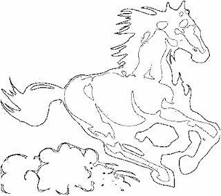running horses coloring pages - photo#47