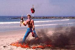 Venice beach juggler