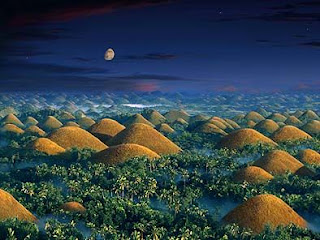 Chocolate Hills at night