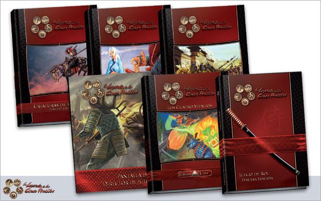 Libros de la Leyenda de los Cinco Anillos, el juego de rol.