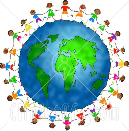 Black And White Globe Clip Art. clip art children holding