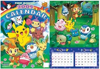 Pokemon 2009 Monthly Calendar Etoile
