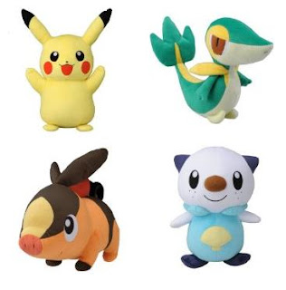 Pokemon BW Bigger Plush Tomy