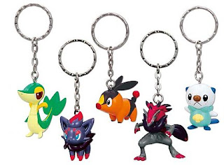 Pokemon BW Figure Key Chain Banpresto
