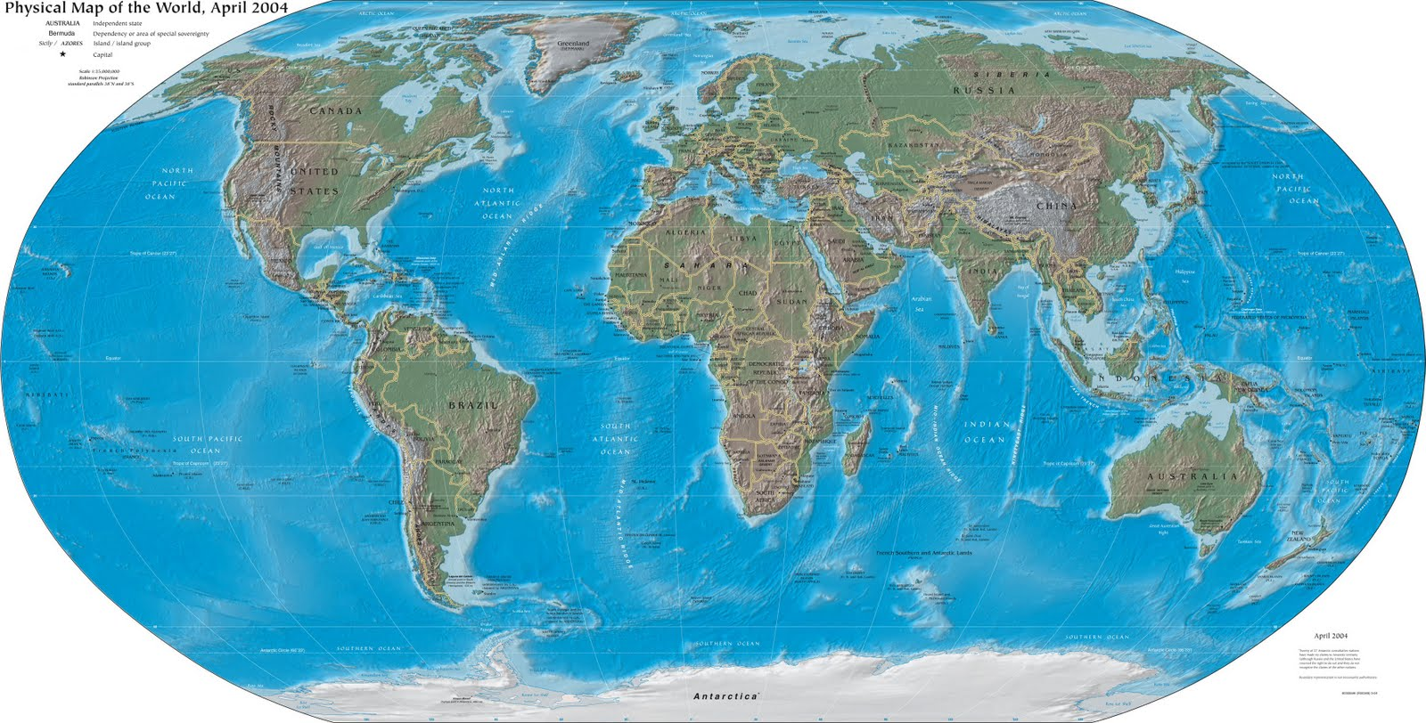 World Map Continents And Oceans Printable