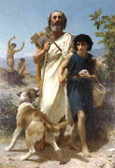 William Adolphe Bouguereau (1825-1905)  Homer and his Guide (1874)