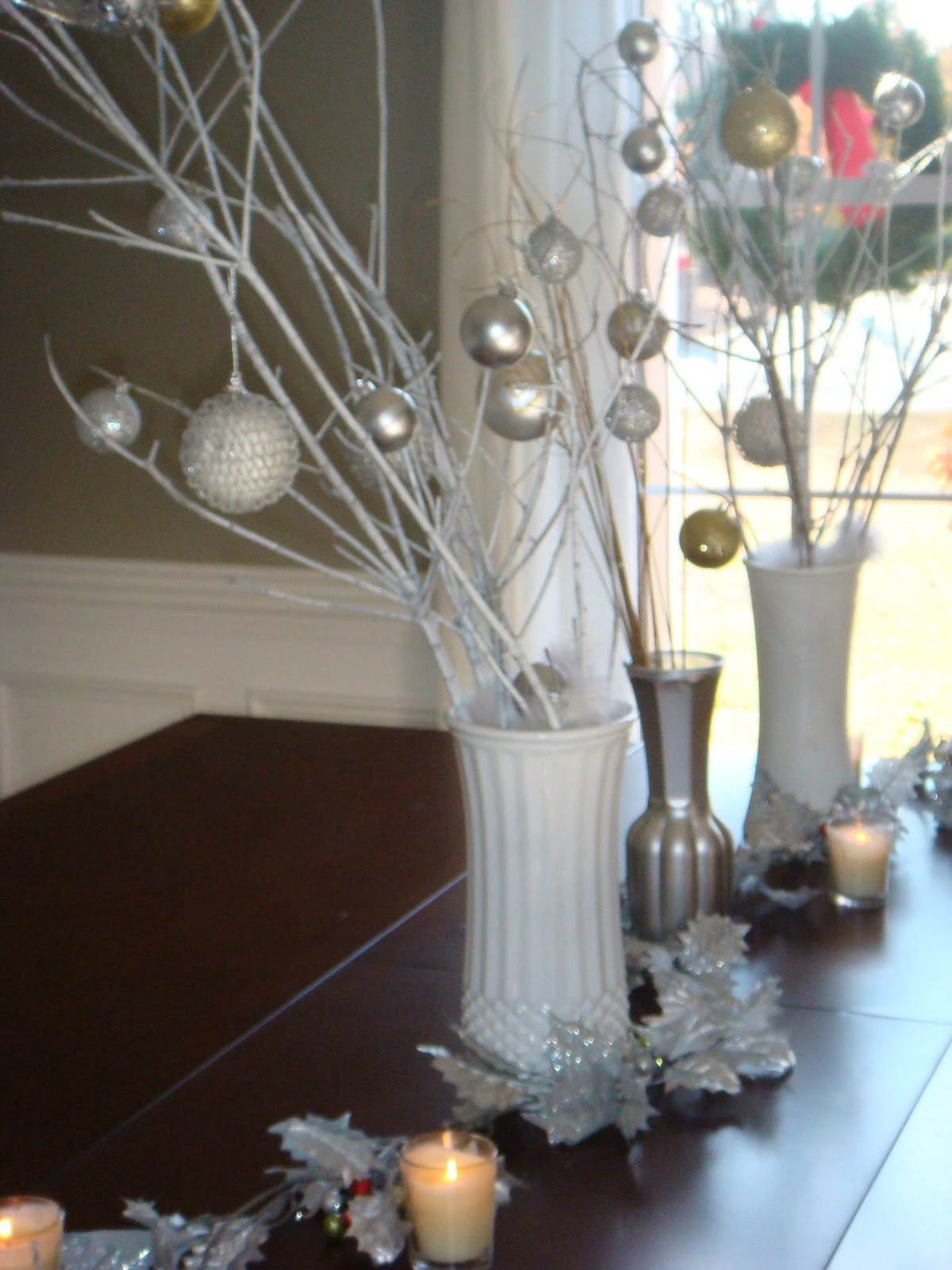 the nest builder a simple wintery stick dining room centerpiece