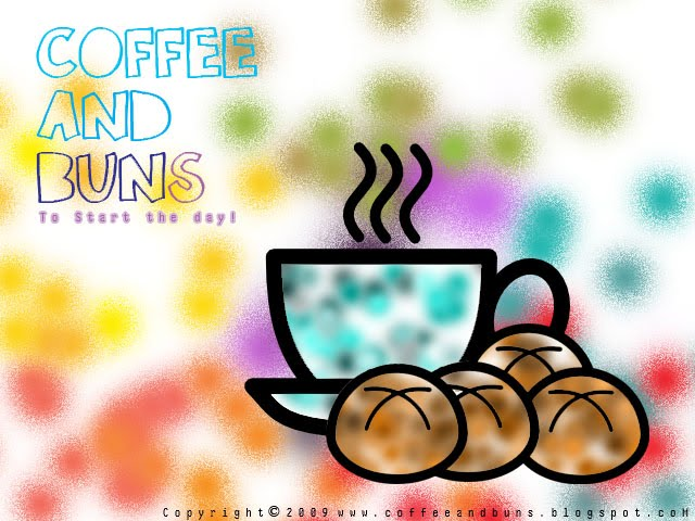 Coffee and Buns ; Coffee and Buns to Start the Day! :D