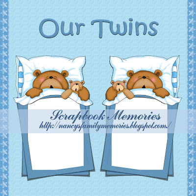 Our Twins 2 Quick page ...  (Nancy's Memories and Scraps) Our+twins+qiuick+page2+preview+nancyj62009