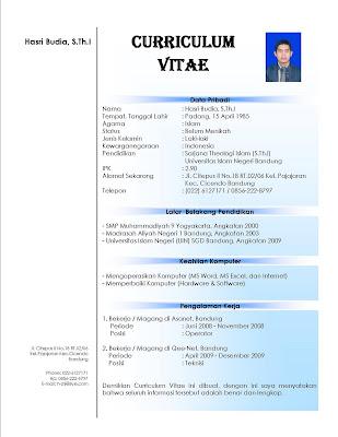 CV / daftar riwayat hidup