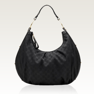 Gucci INTERLOCKING HOBO (BLACK)