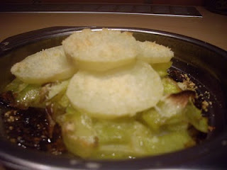 Lasanya de porros i patates