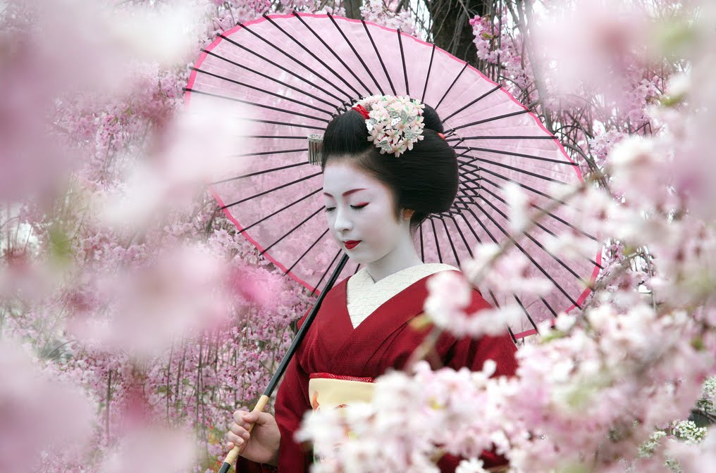 Bugaku on miyajima cherry blosoms dragon kinefuri matsuri