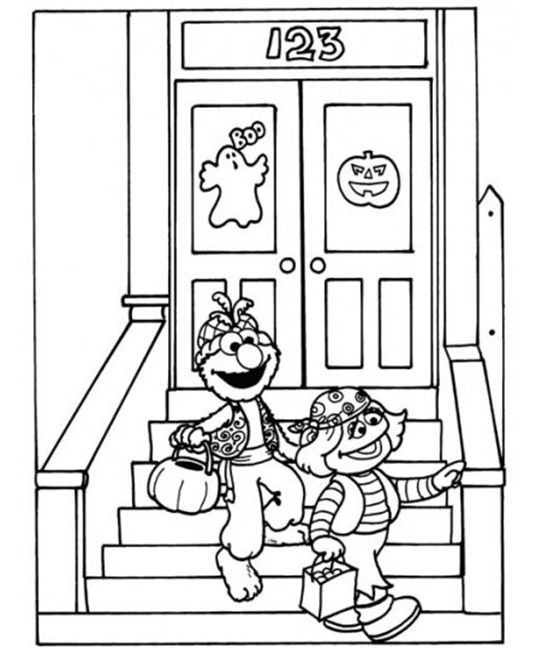 elmo halloween coloring pages - photo#21