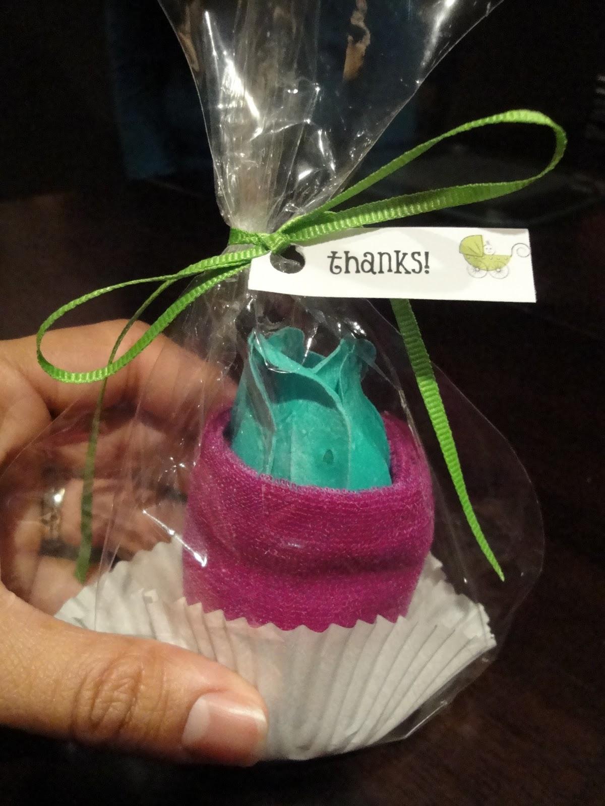 Spa Washcloth Cupcake Baby Shower Favors Tutorial Homemade