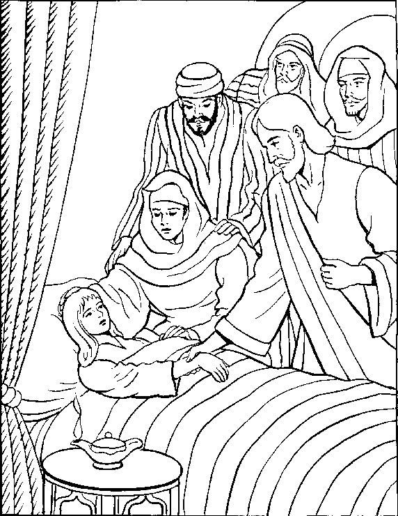 JESÚS RESUCITA A UNA NIÑA