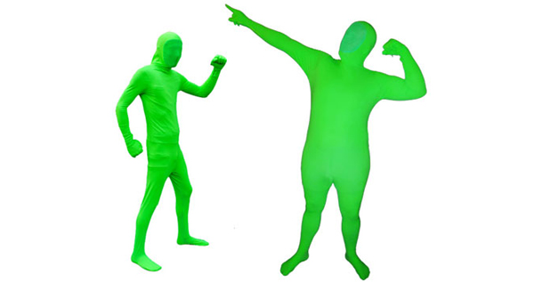 Full Body Green Spandex Suit