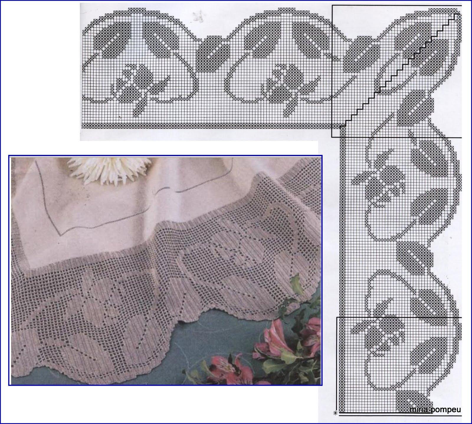 Филейное кружево схемы фото