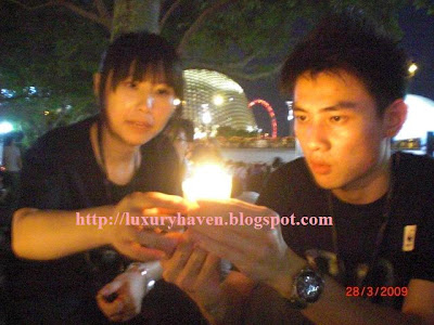 candle light at esplanade park