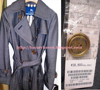 burberry blue label trench coat