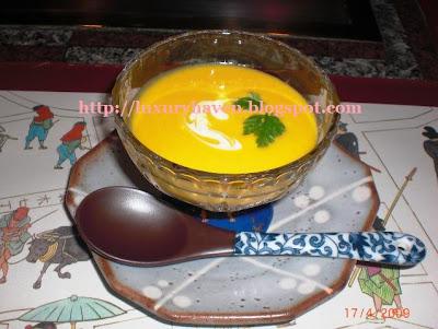 hama steak house tokyo pumpkin soup
