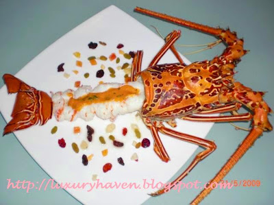 steamed spiny lobster recipe